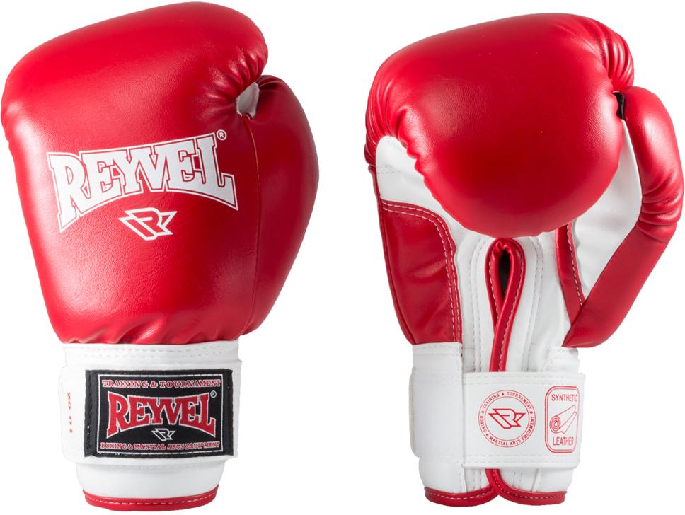 Перчатки боксерские Everlast Reyvel, цвет: красный, 14 oz. RV-101УТ-00008919Перчатки боксерские Reyvel - универсальные боксерские перчатки из винила широко используются спортсменами как на тренировках, так и на соревнованиях.Перчатки изготовлены из высококачественной винилискожи. Многослойный вкладыш из пенополиуретана и пенополиэтилена различных плотностей служит максимальной защитой рук. Застежка-липучка велкро позволяет легко надевать и снимать перчатки самостоятельно, при этом отлично фиксирует запястье. У перчаток удобный хват, они надежно защищают руки бойца.