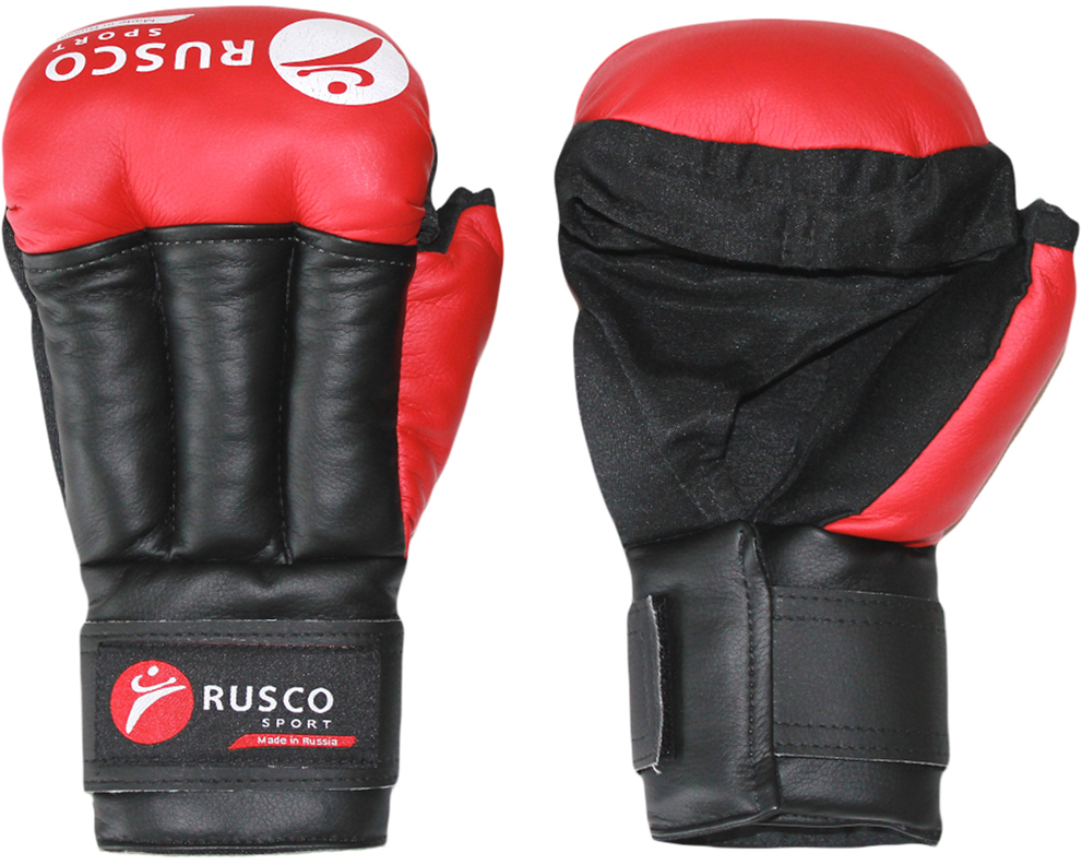 Перчатки для рукопашного боя Rusco, цвет: красный. УТ-00009846. Размер 6УТ-00009846Перчатки для рукопашного боя выполнены из искусственной кожи, ударно-захватные. Манжет на липучке позволяет легко и быстро снимать и надевать перчатки на тренировке.