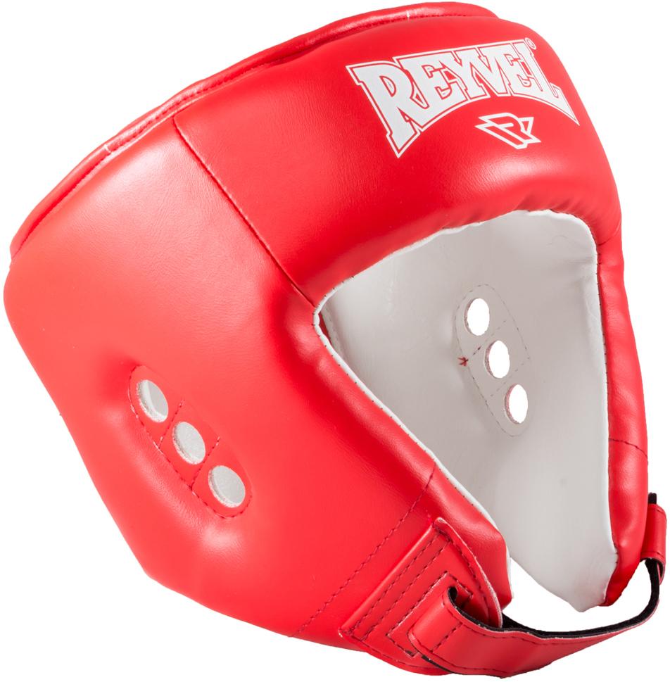 Шлем боксерский Reyvel RV-302, цвет: красный. УТ-00008922. Размер LУТ-00008922Шлем открытый RV- 302 - шлем боксерский предназначен для защиты головы спортсменов от травм при ударах.Поверхность шлема выполнена из прочного износостойкого материала высококачественной винилискожи. Многослойный вкладыш из пенополиуретана и пенополиэтилена различных плотностей амортизирует удары и хорошо сохраняет форму шлема. Дополнительную защиту от возможных ударов сверху обеспечивает плотная накладка на макушке. Конструкция шлема обеспечивает хорошую обзорность.Характеристики:Цвет: красныйМатериал: к/з (PU)Наполнитель: ППУ + ППЭРазмер L, окружность головы, см: 54-60мПроизводство: Россия