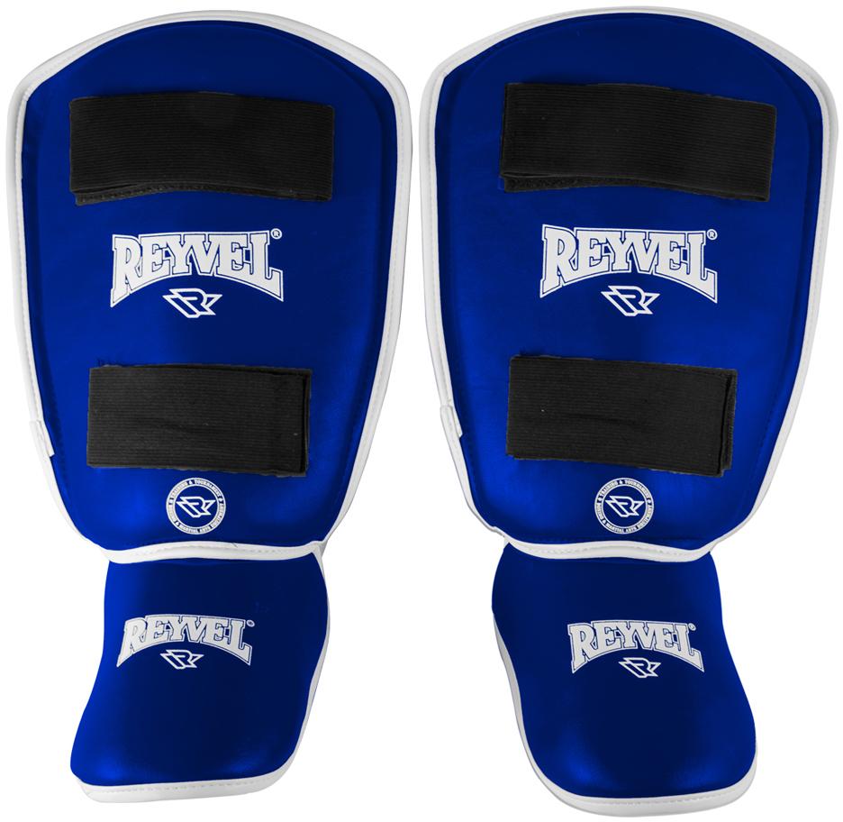 Защита голени Reyvel RV- 511, цвет: синий. УТ-00008904. Размер MУТ-00008904Защита голень-стопа RV- 511 - защита голеностопа используется спортсменами во время спаррингов или тренировок в тех контактных единоборствах, где разрешены удары ногами.Это комплексное решение длязащиты голени и ступни. Позволяет минимизировать риск получения травмы, смягчить удары. Защита голеностопа изготовлена из высококачественной винилискожи, внутренний наполнитель пенополиуретан. Надежно фиксируется на ноге с помощью эластичной текстильной ленты и застежки-липучки велкро. Нескользящая подкладка позволяет бойцу чувствовать себя комфортно и уверенно работать в полную силу. Дополнительную защиту обеспечивает специальное утолщение в районе большеберцовой кости и накладка на подъем стопы.Характеристики:Назначение: защита ногМатериал: к/з (PU)Подкладка: замша синтетическаяПроизводство: Россия