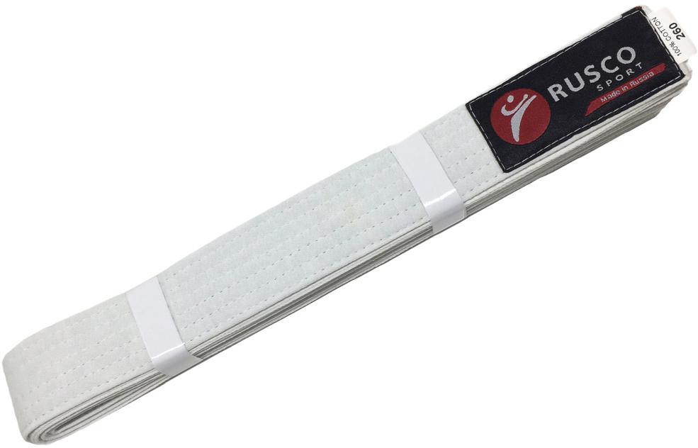 Пояс для единоборств Rusco, цвет: белый. УТ-00010488. Длина 260 смУТ-00010488Пояс для единоборств - это пояс, предназначенный для занятий различными боевыми искусствами.