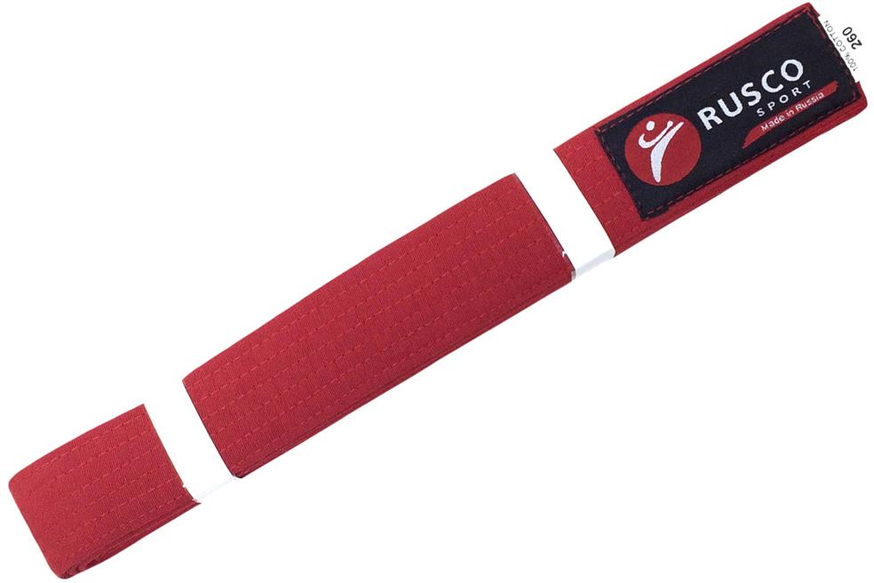 Пояс для единоборств Rusco, цвет: красный. УТ-00010490. Длина 260 смУТ-00010490Пояс для единоборств - это пояс, предназначенный для занятий различными боевыми искусствами.