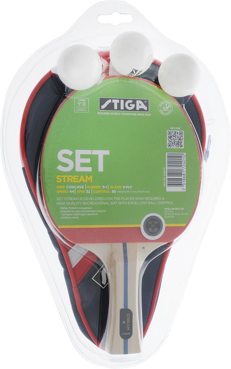 Набор для настольного тенниса Stiga Stream WRB, 5 предметов - Настольный теннис
