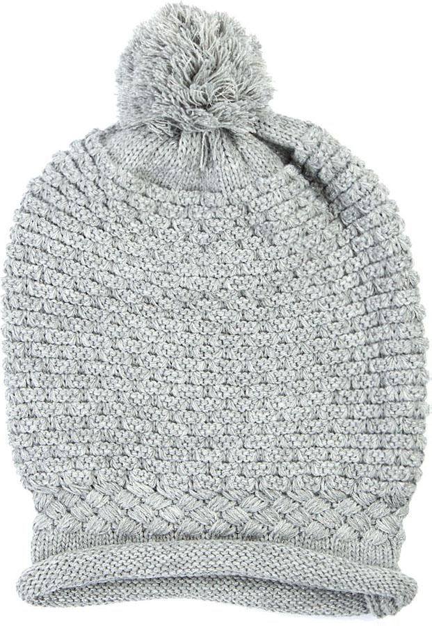 Шапка женская Elisabeth, цвет: серый. 378400/01. Размер универсальный378400/01Женская шапка Elisabeth отлично дополнит ваш образ в холодную погоду. Модель максимально сохраняет тепло и обеспечивает удобную посадку, невероятную легкость и мягкость. Шапка выполнена оригинальной вязкой. Макушка шапки дополнена помпоном.