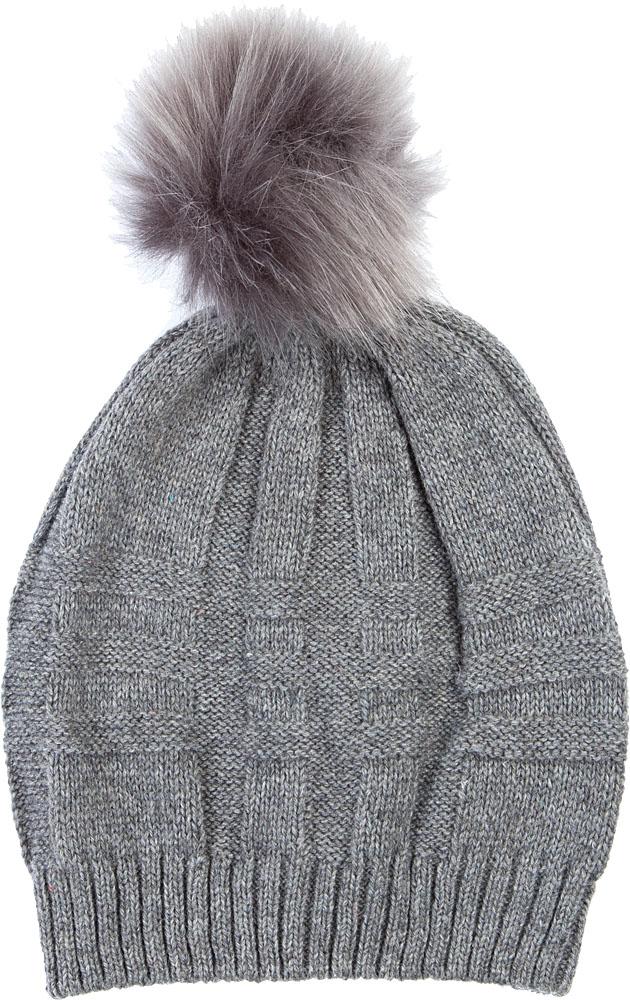Шапка женская Elisabeth, цвет: серый. 378410/01. Размер универсальный378410/01Женская шапка Elisabeth отлично дополнит ваш образ в холодную погоду. Модель максимально сохраняет тепло и обеспечивает удобную посадку, невероятную легкость и мягкость. Макушка шапки дополнена пушистым помпоном из меха.