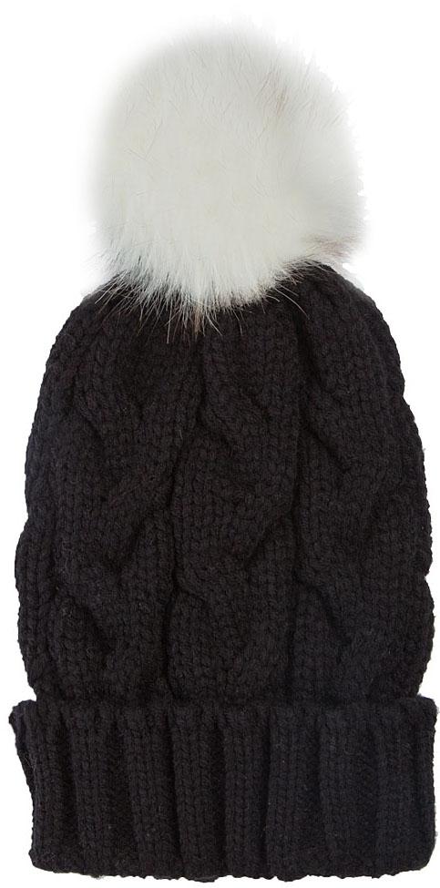 Шапка женская Elisabeth, цвет: черный. 378405/01. Размер универсальный378405/01Теплая женская шапка Elisabeth отлично дополнит ваш образ в холодную погоду. Модель максимально сохраняет тепло и обеспечивает удобную посадку, невероятную легкость и мягкость. Шапка выполнена вязкой с узорами. Макушка шапки дополнена пушистым помпоном из меха.