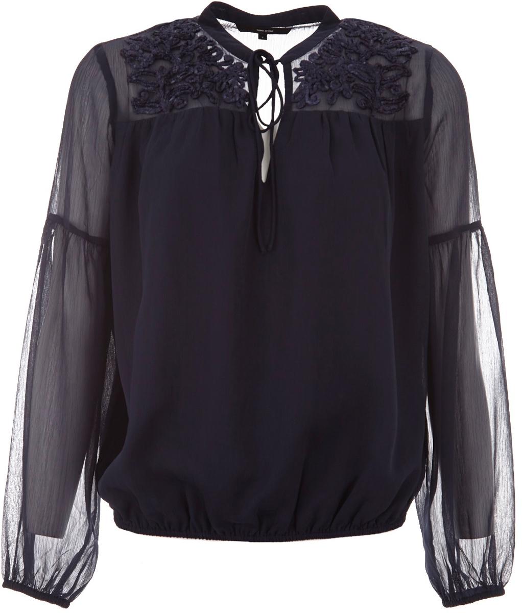 Блузка женская Vero Moda, цвет: темно-синий. 10185517_Navy Blazer. Размер XS (40/42) блузка женская vero moda цвет темно синий 10185884 navy blazer размер xs 40 42