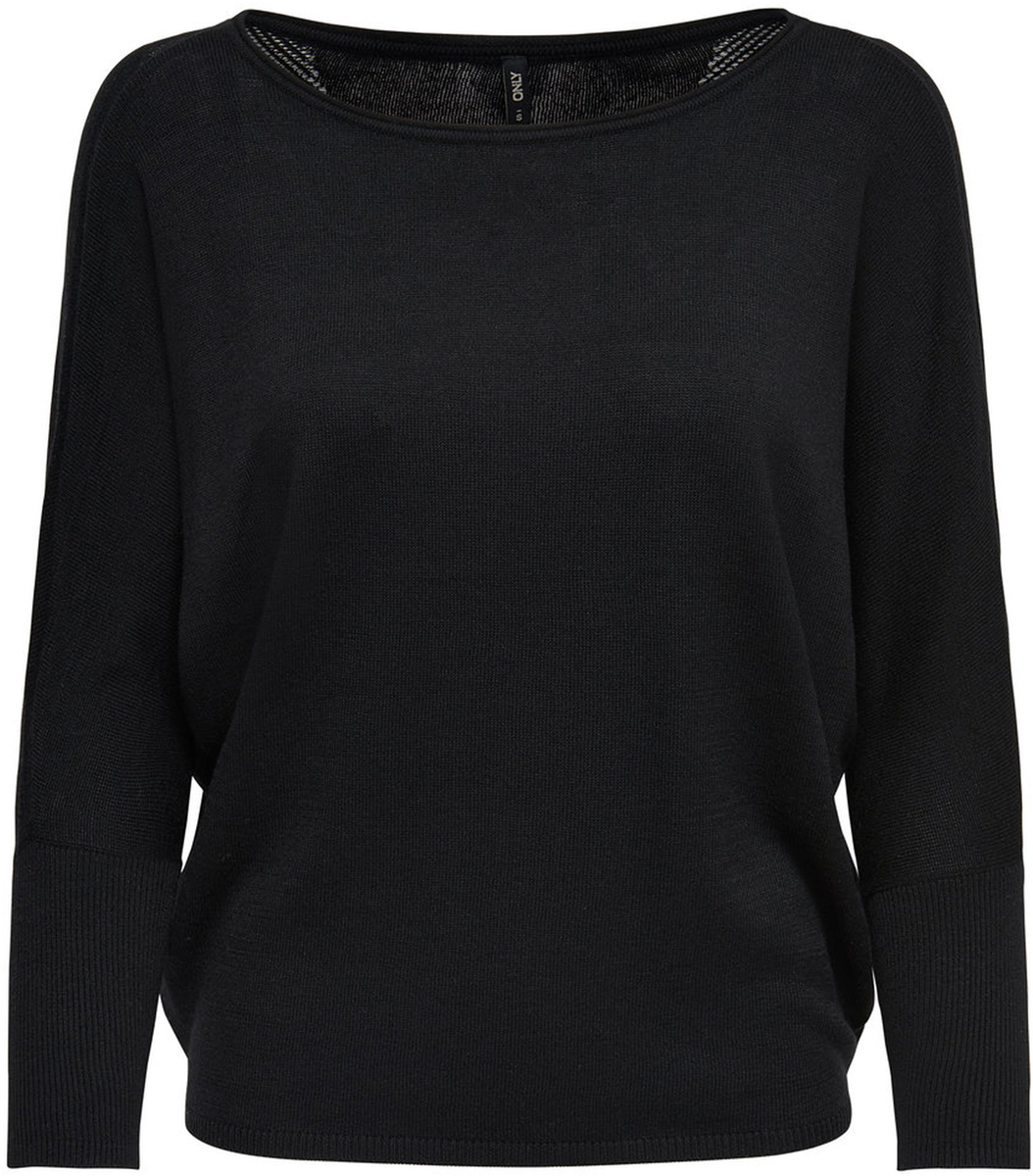 Пуловер жен Only, цвет: черный. 15140104_Black. Размер L (48)15140104_Black
