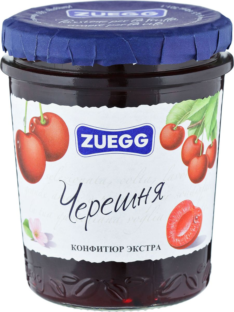 Zuegg Черешня конфитюр, 320 гP0053938Конфитюр приготовлен с натуральной черешней. Полностью натуральный, этот продукт на все 100% полезный. Содержание на 100 г: фрукты 50 г, сахар 46 г.