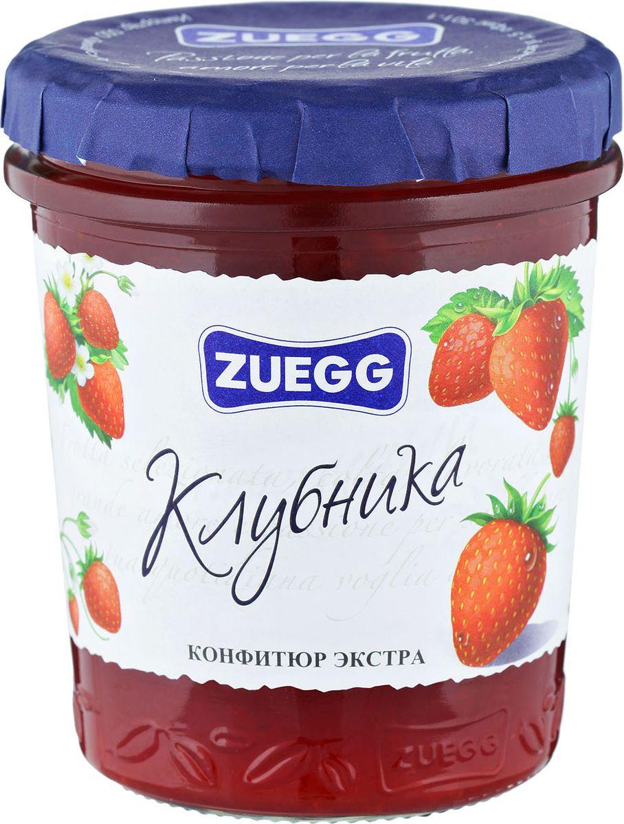 Zuegg Клубника конфитюр, 320 гP0053944Содержание на 100 г: фрукты 50 г, сахар 46 г