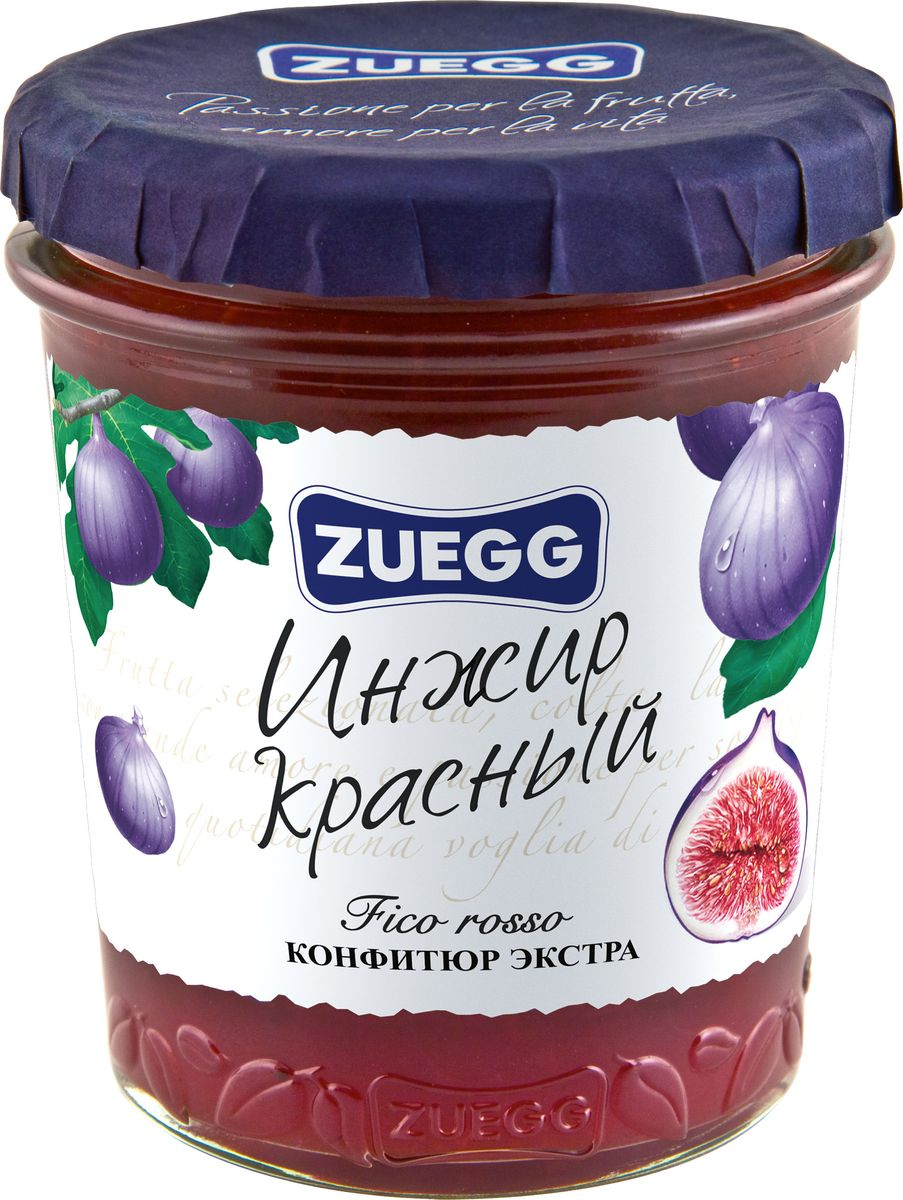 Zuegg Инжир красный конфитюр, 330 г конфитюр zuegg экстра абрикос 320г