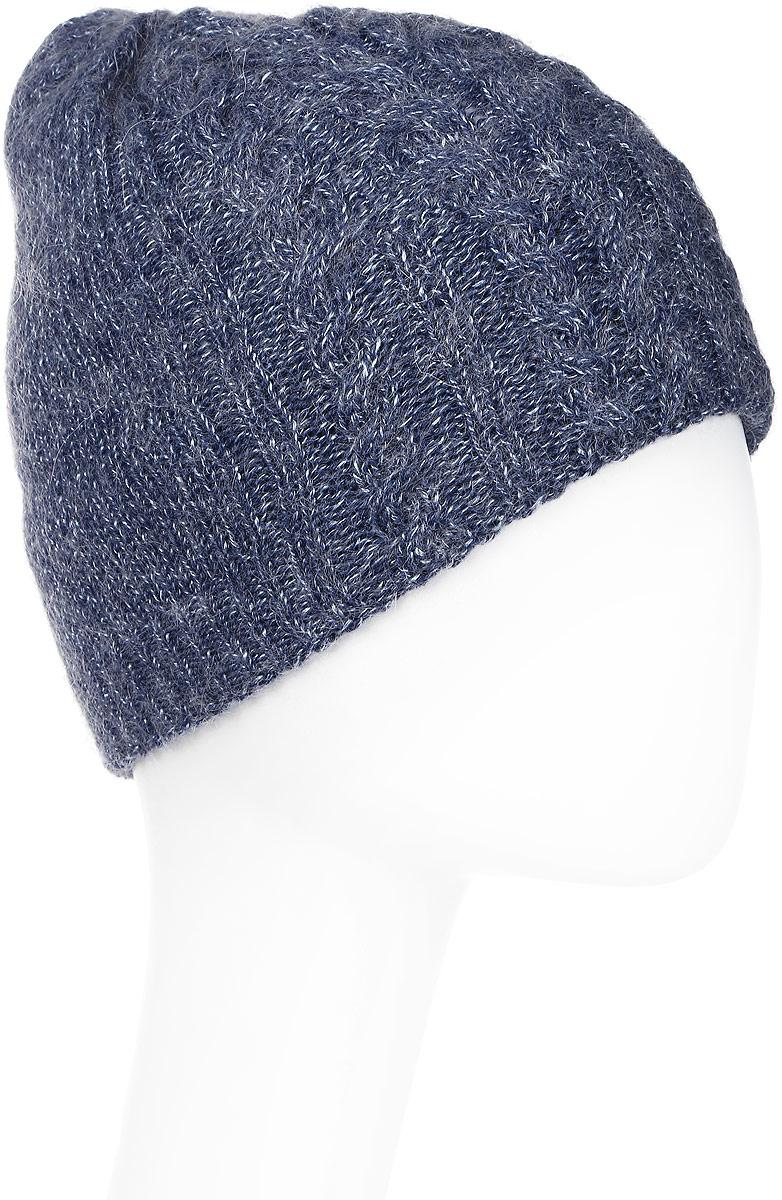 Шапка женская Marhatter, цвет: синий. MWH5739/6. Размер 56/58MWH5739/6Стильная шапка-колпак, выполнена из высококачественной пряжи. Модель очень актуальна для тех, кто ценит комфорт, стиль и красоту. Отличный вариант на каждый день.