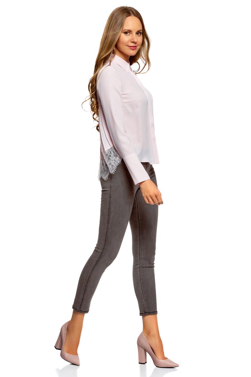 Леггинсы женские oodji Ultra, цвет: серый джинс. 12104068-1/47015/2300W. Размер 29-32 (48-32)12104068-1/47015/2300W