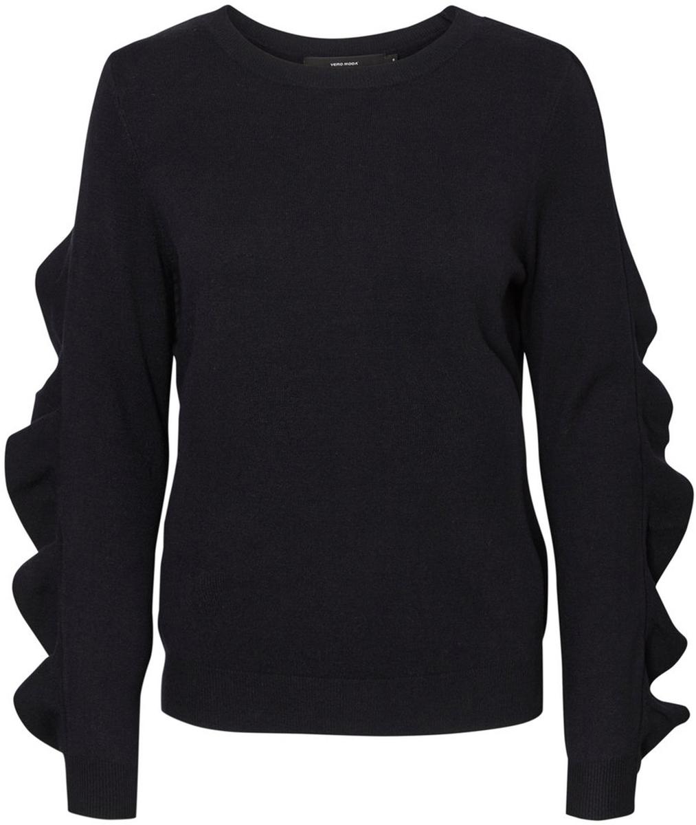 Джемпер женский Vero Moda, цвет: черный. 10185482_Black. Размер L (48)10185482_BlackДжемпер женский Vero Moda выполнен из качественного материала. Модель с круглым вырезом горловины и длинными рукавами.
