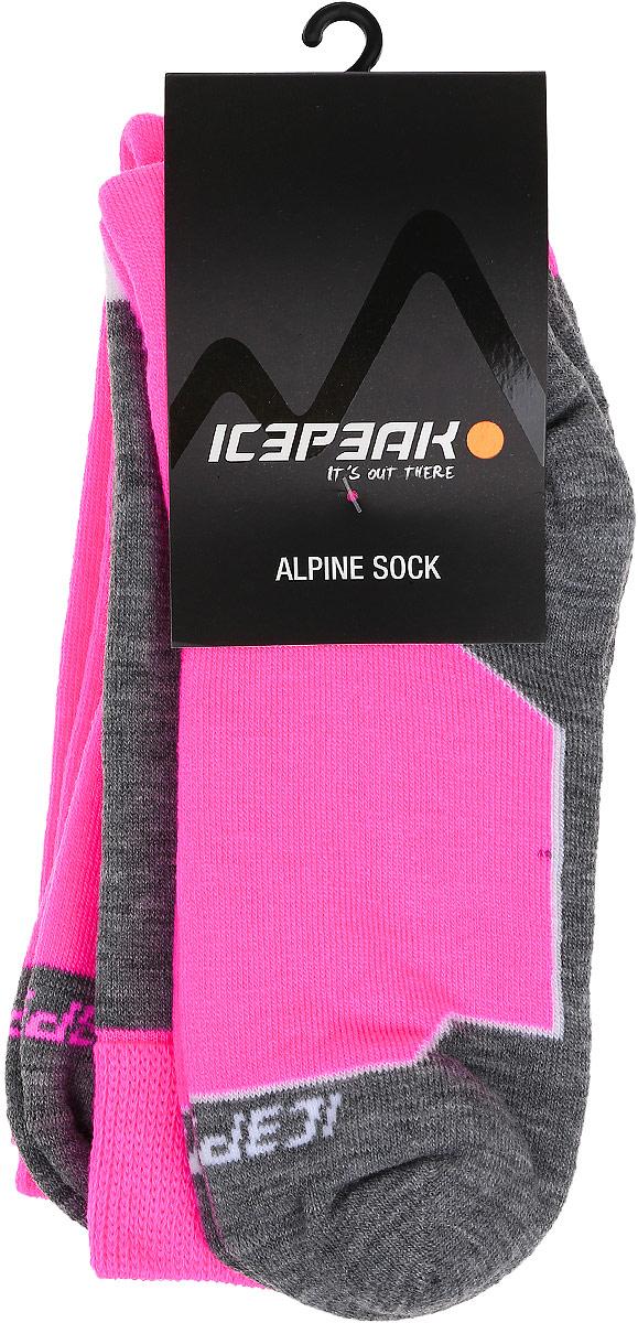 Носки женские Icepeak, цвет: розовый. 855883500IV. Размер 41855883500IVЖенские носки для повседневной носки выполнены из качественного материала. Носок и пятка укреплены, что значительно увеличивает износостойкость носков.