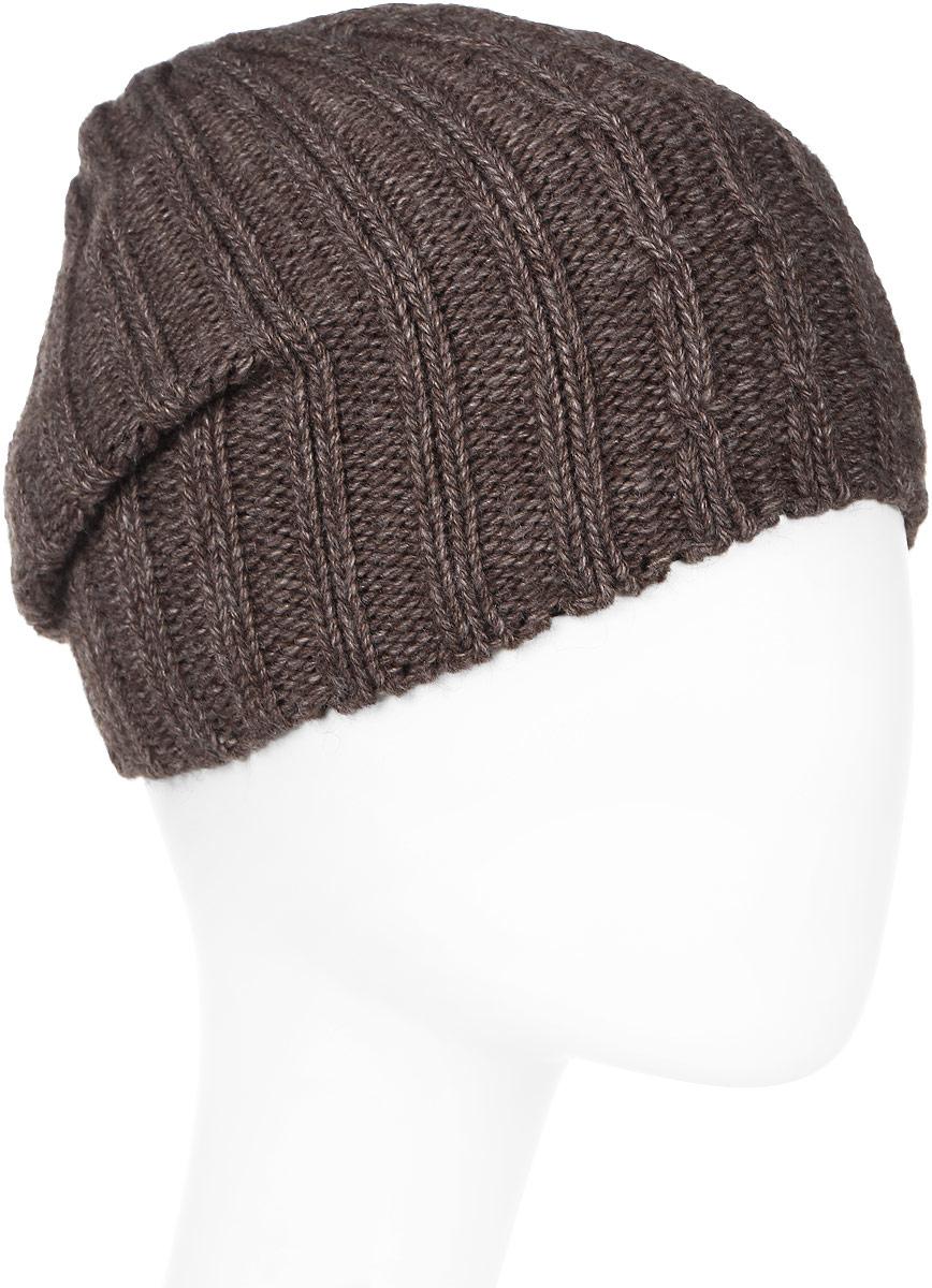 Шапка мужская Elfrio, цвет: коричневый. Размер 57/59. RMH6461/2RMH6461/2Теплая шапка Elfrio, выполнена из комфортного материала, дополнена подкладкой из полиэстера. Данная модель мягкая и комфортная на ощупь, отличный вариант на каждый день.