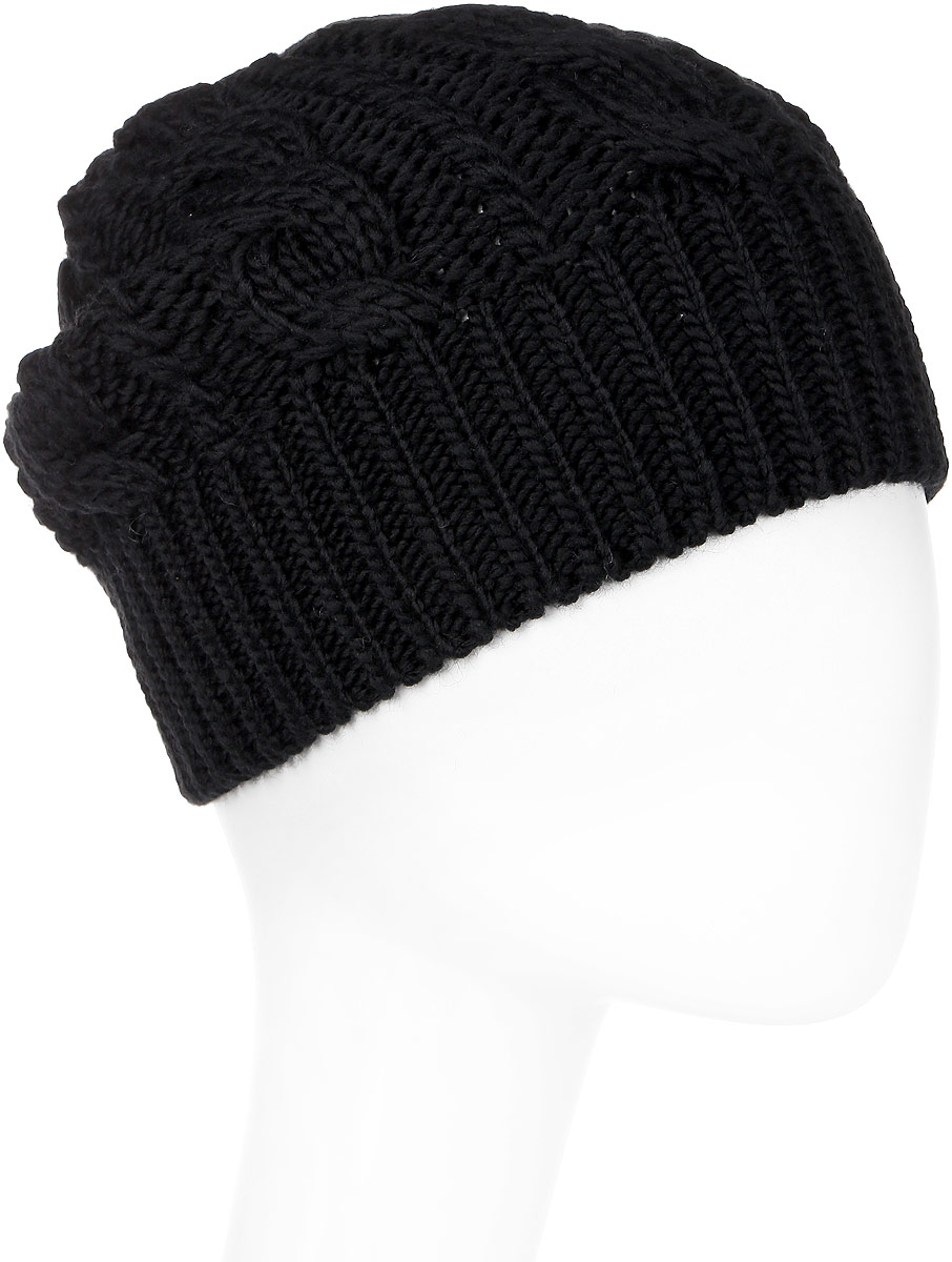 Шапка мужская Marhatter, цвет: черный. Размер 56/58. 40934093Отличная теплая шапка-колпак, дополненная стильным кожаной петлей. Будет хорошо смотреться не только со спортивной одеждой, но и с повседневной.