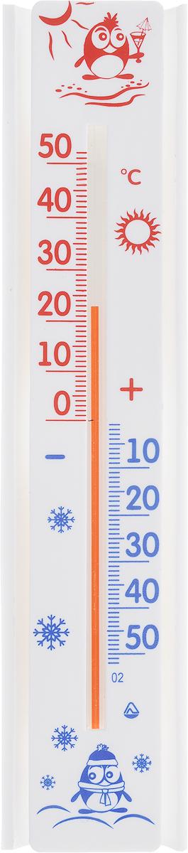 Термометр оконный Стеклоприбор Солнечный зонтик. ТБО исп.3300240_белый, красный, синийТермометр оконный Стеклоприбор Солнечный зонтик применяется для измерения температуры воздуха на улице. Специально предназначен для пластиковых окон. Корпус термометра выполнен из пластика, а колба изготовлена из ударопрочного стекла. Термометр оснащен широкой, подробной и наглядной шкалой. Изделие имеет широкий рабочий диапазон - от -50 до +50°С с ценой деления 1°С. Благодаря такой шкале термометр отлично подходит для применения в России, Украине, Белоруссии и других странах с умеренным климатом. Не содержит ртути. Модель отличается не только точностью измерений, но и надежностью крепежа. Термометр снабжен двумя одноразовыми липучками. Простота установки является залогом долговечности. Для крепежа достаточно снять пленку с этих липучек (их температура не должна быть ниже 10°С) и прижать измеритель к сухому и чистому стеклу. Термометр всегда точно покажет, какая же температура на улице. С ним погода не преподнесет вам неприятных сюрпризов.