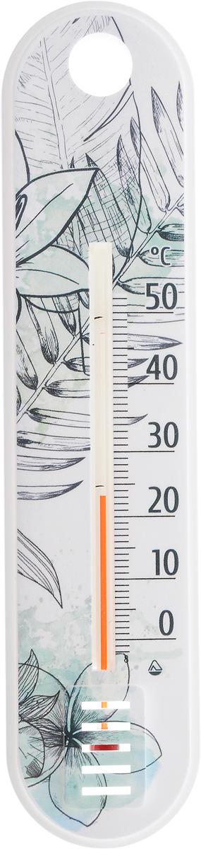 Термометр комнатный Стеклоприбор Ветка. 300185_ветка300185_веткаЖидкостный термометр Стеклоприбор Ветка выполнен в декоративном корпусе из качественного пластика. С помощью отверстия вверхней части такой термометр можно повесить на стену. Термометр имеет шкалы измерения температуры по Цельсию (от -2°С до +52°С). Благодаря такому термометру вы всегда будете точно знать, насколько тепло в помещении.Жидкостный термометр отлично впишется в интерьер вашей кухни, а также станет отличным сувенирным подарком для ваших родных и близких.Размеры термометра: 18,7 х 4,3 см.