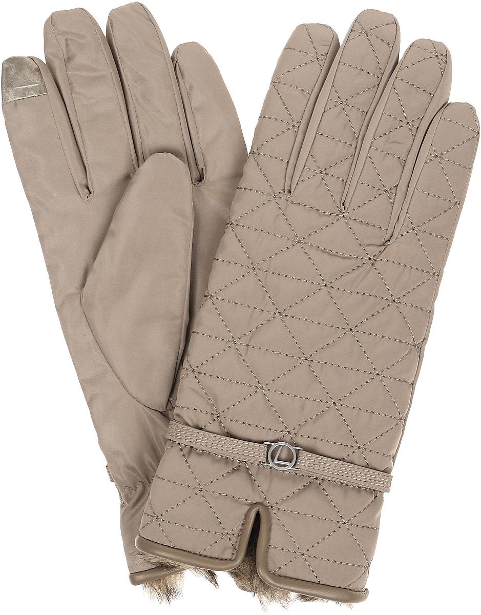 Перчатки женские Luhta, цвет: бежевый. 838636300L6V-040. Размер S (6/6,5)838636300L6V-040Стильные женские перчатки Luhta не только защитят ваши руки, но и станут великолепным украшением. Перчатки выполнены из полиэстера. Модель оформлена декоративным ремешком с металлической фурнитурой и прострочкой. Верх изделия дополнен мехом. Стильный аксессуар для повседневного образа.