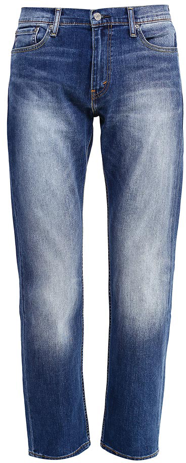 Джинсы мужские Levis®, цвет: синий. 2999004530. Размер 36-34 (52-34)2999004530Джинсы с современным прямым кроем и низкой посадкой отличаются чуть большей свободой в бедрах. Идеально подходят для обладателей средней и спортивной комплекции. Вес ткани 12,4 унций