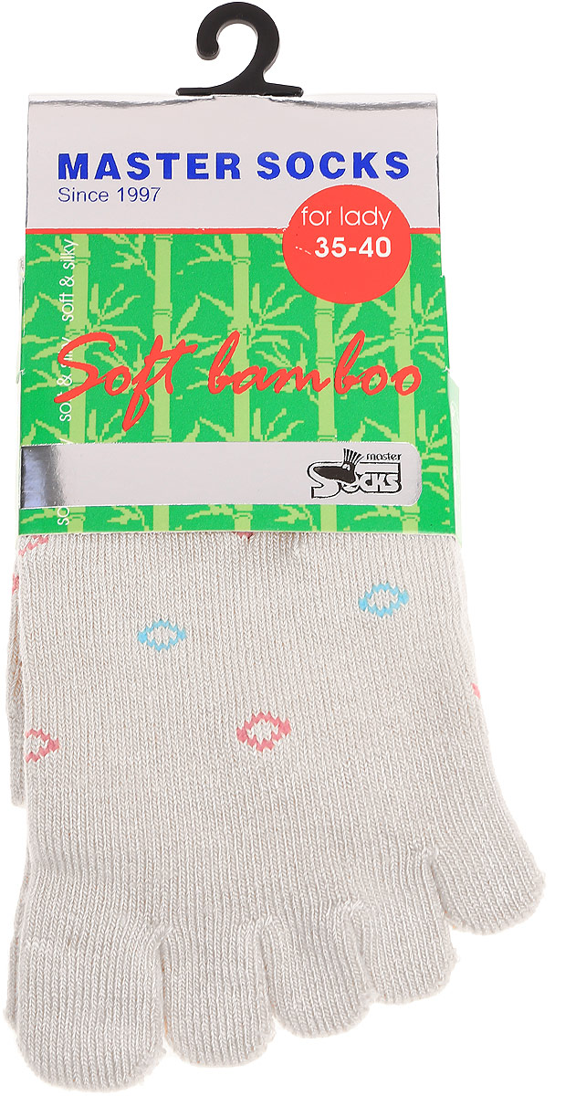 Носки женские Master Socks, цвет: светло-серый. 85681. Размер 23/2585681Удобные носки Master Socks с пальцами, изготовленные из высококачественного комбинированного материала с бамбуковой основой, очень мягкие и приятные на ощупь, позволяют коже дышать.Эластичная резинка плотно облегает ногу, не сдавливая ее, обеспечивая комфорт и удобство. Носки с паголенком классической длины. Практичные и комфортные носки великолепно подойдут к любой вашей обуви.