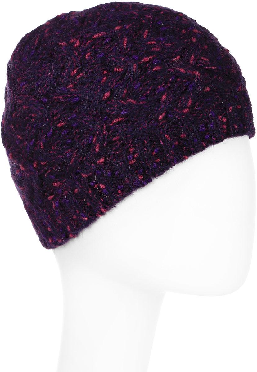 Шапка женская Snezhna, цвет: фиолетовый. Размер 56/58. SWH6750/2SWH6750/2Стильная шапка, выполнена из высококачественной пряжи. Модель очень актуальна для тех, кто ценит комфорт, стиль и красоту. Отличный вариант на каждый день.