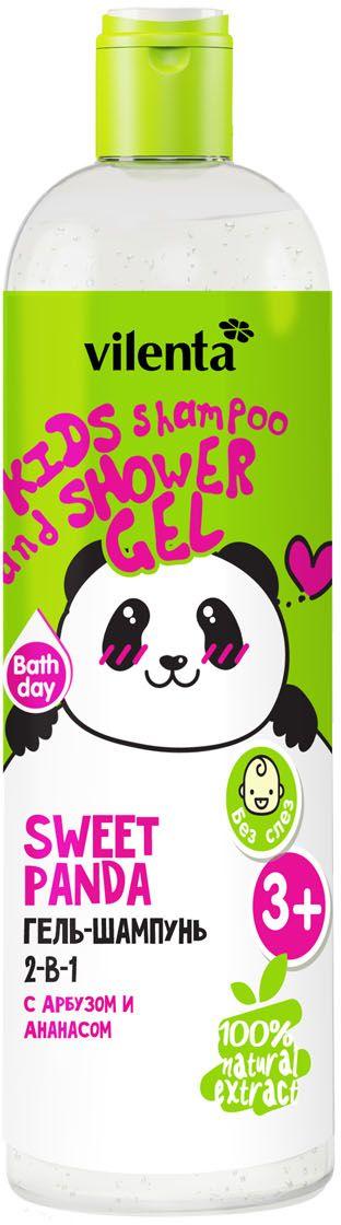 Vilenta Гель для душа Sweet Panda, 400 млВЕГ004Освежающий Гель-Шампунь 2-в-1 для маленьких исследователей бережно очищает кожу и волосы ребенка. Специальный кондиционирующий компонент, входящий в формулу средства, придает особую нежность при нанесении и способствует увлажнению. Мягкая воздушная пена не щиплет глазки, а яркий аромат Арбуза и Ананаса наполняет кроху энергией для новых открытий.