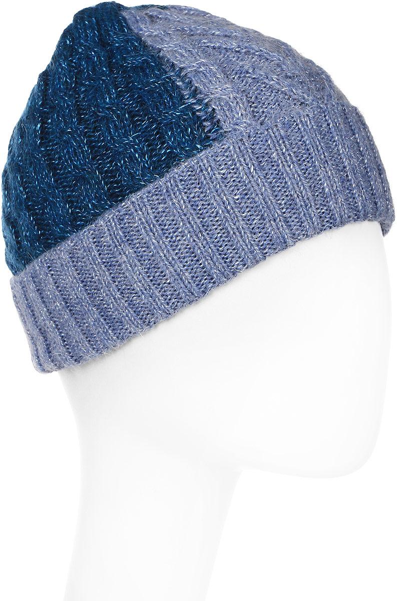 Шапка женская Marhatter, цвет: голубой, бирюзовый. Размер 56/58. MWH5627/2MWH5627/2Отличная шапка с отворотом, выполнена из высококачественного материала. Модель очень актуальна для тех, кто ценит комфорт, стиль и красоту. Она мягкая и приятная на ощупь, обладает хорошими дышащими свойствами и максимально удерживает тепло. Изделие оформлено узором.