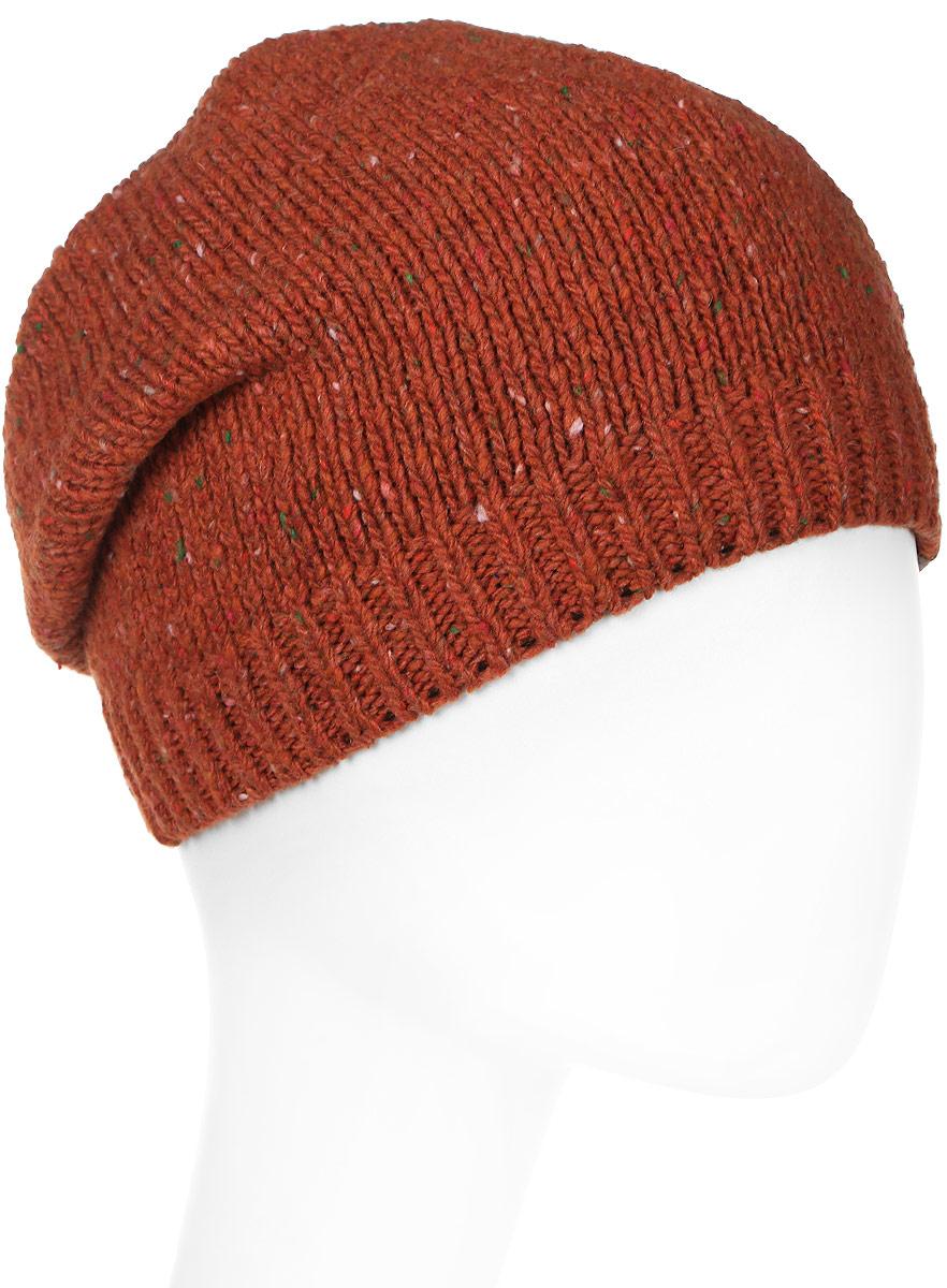 Шапка женская Marhatter, цвет: коричнево-красный. MWH7182/2. Размер 56/58MWH7182/2Стильная шапка-колпак, выполнена из высококачественной пряжи. Модель очень актуальна для тех, кто ценит комфорт, стиль и красоту. Отличный вариант на каждый день.