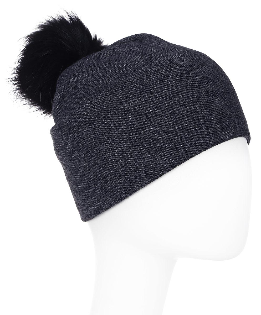 Шапка женская Elfrio, цвет: темно-серый. Размер 56/58. RWH5271/1RWH5271/1Замечательная шапка с помпоном Elfrio, выполненная из теплого комфортного материала на флисовой подкладке, отлично подходит для молодых и активных девушек. Такая шапка - незаменимая вещь на прохладную погоду.Уважаемые клиенты!Размер, доступный для заказа, является обхватом головы.
