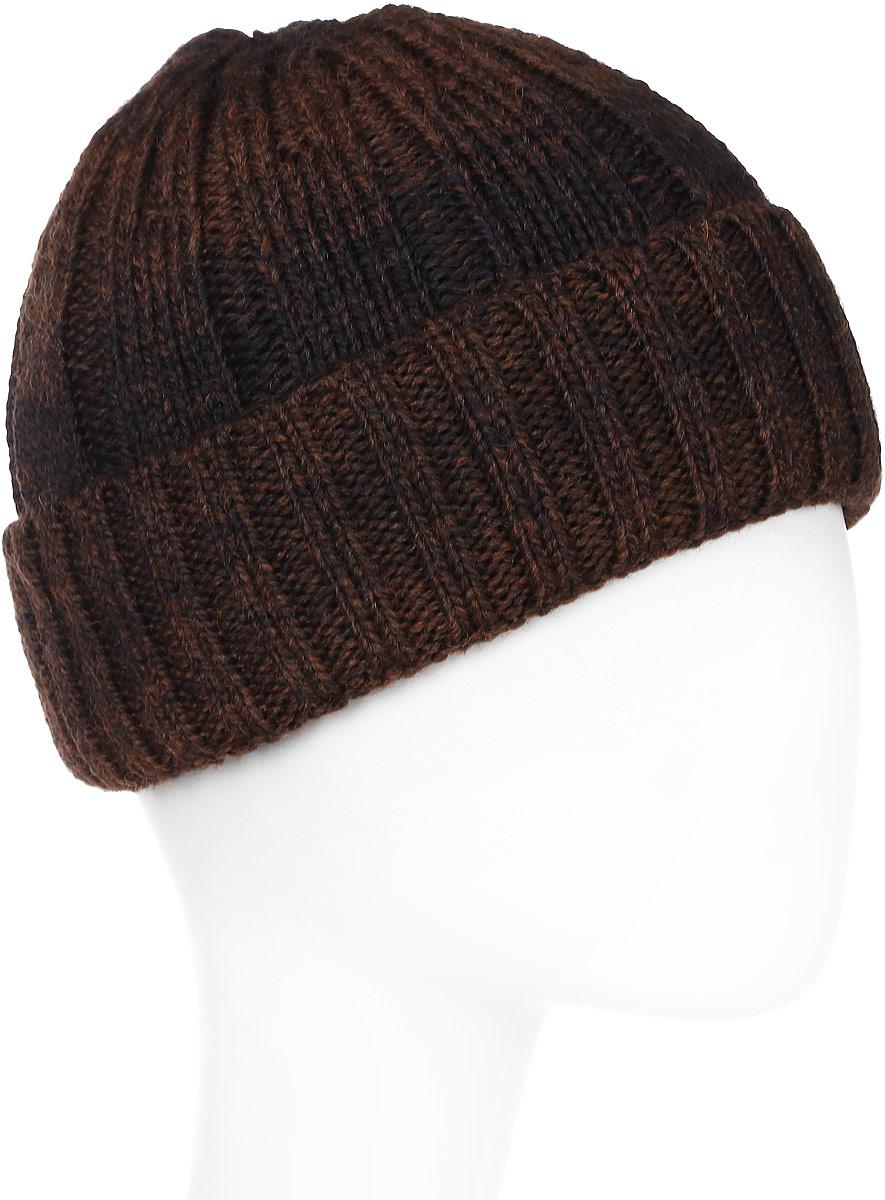 Шапка мужская Marhatter, цвет: коричневый. Размер 57/59. MMH5971/2MMH5971/2Великолепная шапка из высококачественного материала, который будет актуальным как на спортивных мероприятиях, так и в повседневной жизни.