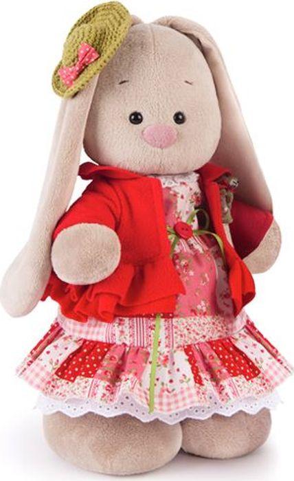 Budibasa Мягкая игрушка Зайка Ми Маково-красный 32 см