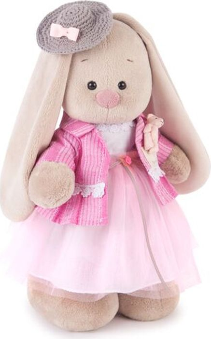 Budibasa Мягкая игрушка Зайка Ми Розовый бутон 25 см