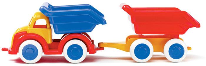 Viking Toys Самосвал Джамбо с прицепом 25 см viking toys пожарная машина джамбо 28 см
