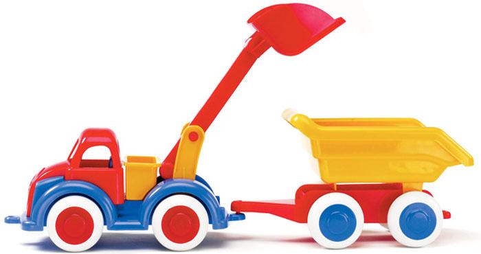 Viking Toys Самосвал-экскаватор Джамбо с прицепом 25 см viking toys пожарная машина джамбо 28 см