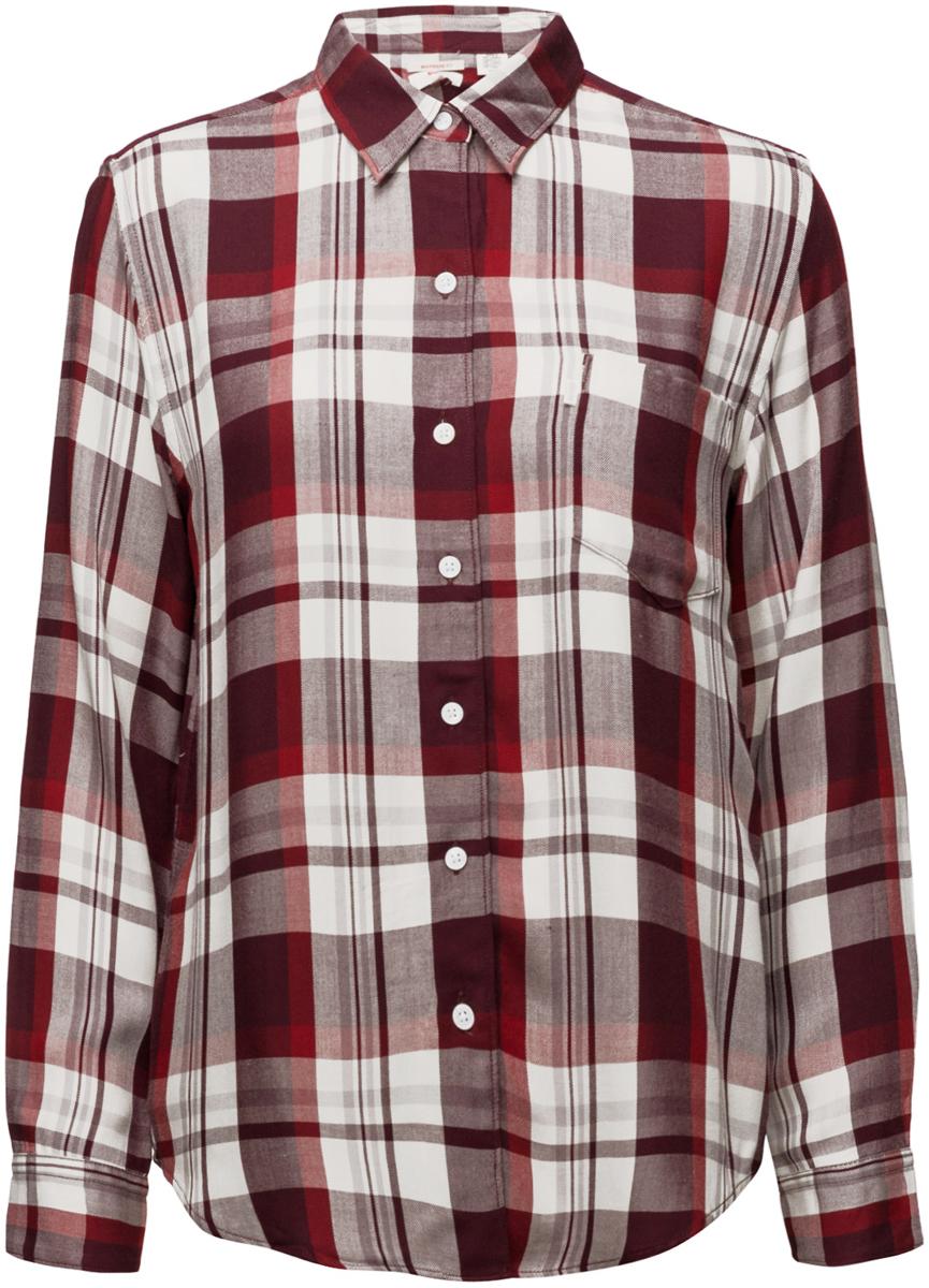 Рубашка женская Levis®, цвет: серый. 2667700250. Размер S (46/48)2667700250Рубашка с одним карманом имеет свободный крой в стиле «бойфренд», более широкую посадку по плечам и удлиненный низ. Мягкий и приятный на ощупь вискозный материал.