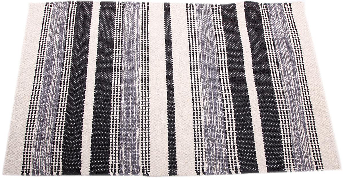 Коврик прикроватный Arloni, самотканный, цвет: черный, 60 х 90 см. 105/2/1ARL105/2/1ARLПрикроватный коврик Arloni выполнен из 100% хлопка и декорирован принтом в полоску. Коврик долго прослужит в вашем доме, добавляя тепло и уют, а также внесет неповторимый колорит в интерьер любой комнаты.