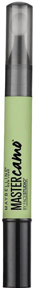 Maybelline New York Консилер для цветокоррекции лица Master Camo, оттенок 10, Зеленый, 1,5 млB2988300Консилер в стике позволяет корректировать любые несовершенства. различные оттенки корректора помогают максировать все типы проблем. Зеленый оттенок нейтрализует покраснения.
