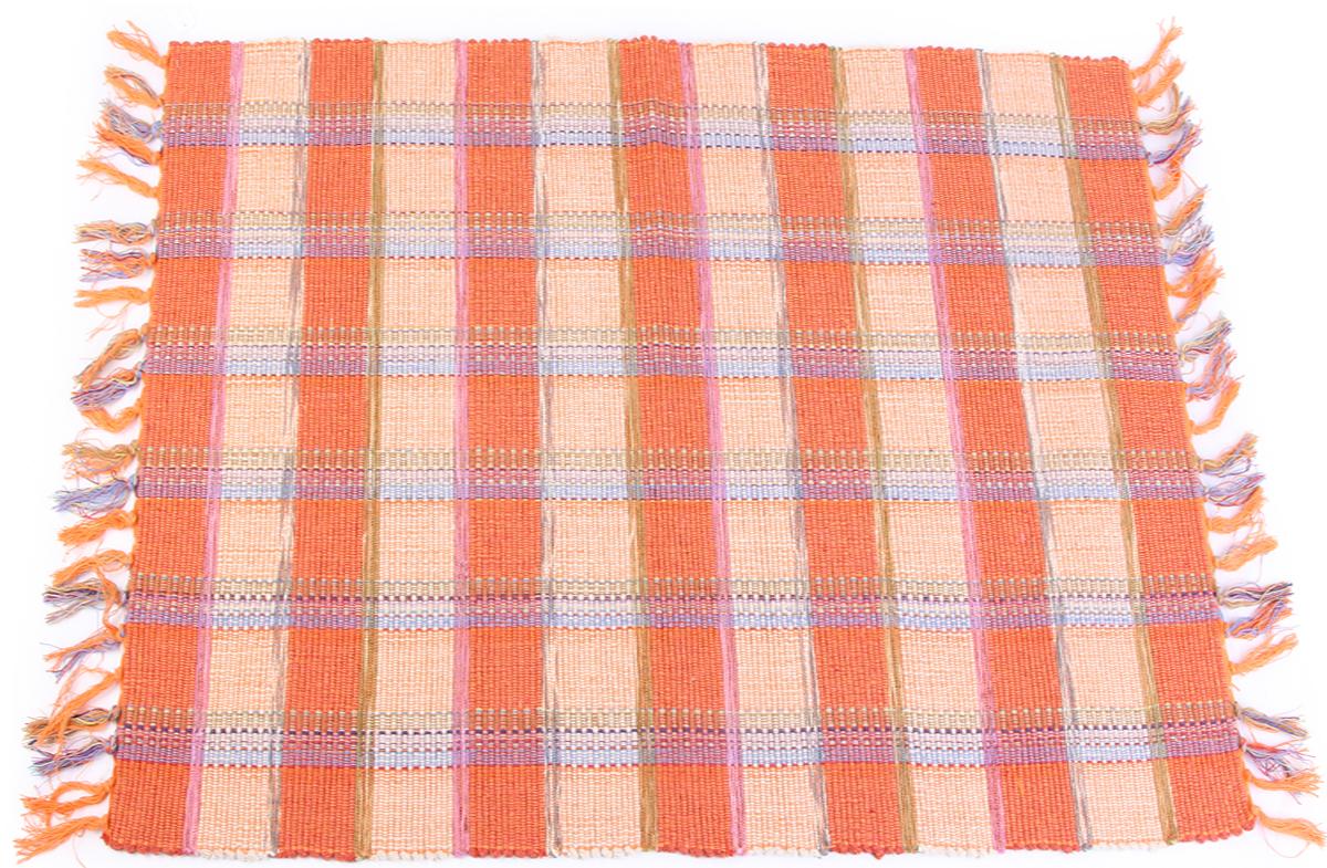 Коврик прикроватный Arloni, самотканный, цвет: оранжевый, 60 х 90 см. 706/36ARL706/36ARLПрикроватный коврик Arloni выполнен из 100% хлопка. Коврик долго прослужит в вашем доме, добавляя тепло и уют, а также внесет неповторимый колорит в интерьер любой комнаты.