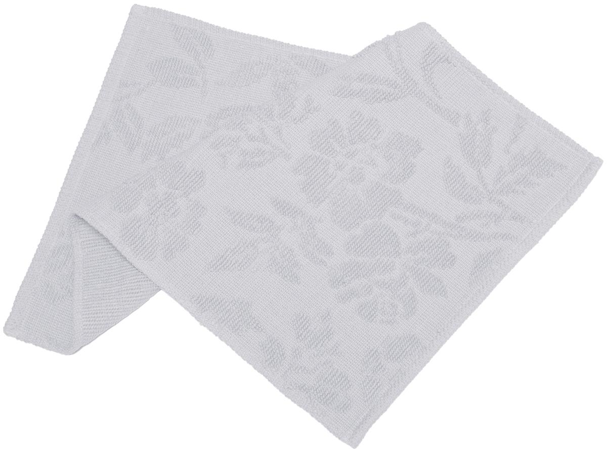 Коврик прикроватный Arloni Кармен, цвет: серебристый, 50 х 80 см1206.1Коврик отлично впишется в ваш интерьер. Добавит в комнату тепла и уюта. Вам будет комфортно вставать с кровати даже в холодную погоду.