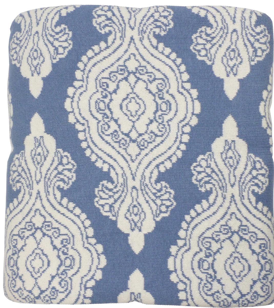 Плед Arloni Дамаск, цвет: голубой, 140 х 190 смPL004-2ARL