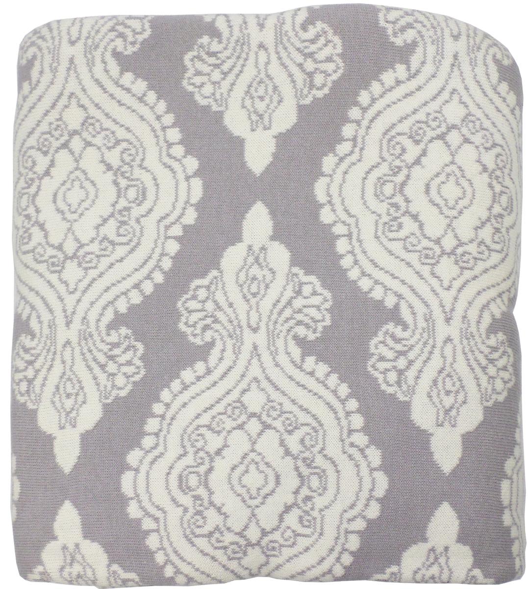 Плед Arloni Дамаск, цвет: светло-серый, 140 х 190 смPL004-3ARL
