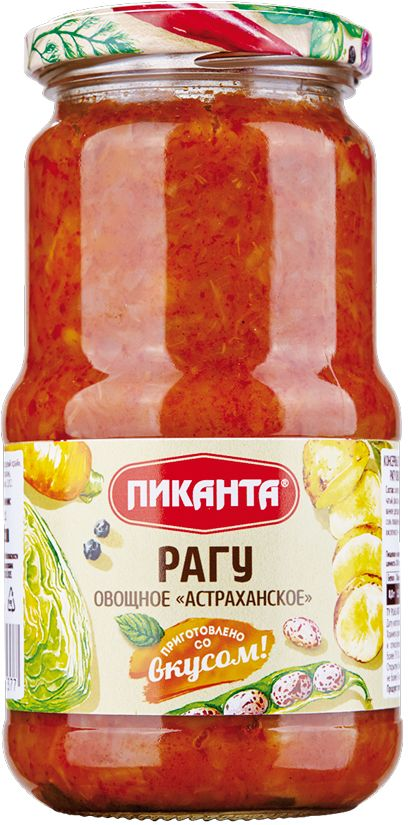 Пиканта рагу овощное астраханское, 520 г4607036205377Предварительно разогрев, такую овощную смесь можно использовать как полноценный гарнир к мясным и рыбным блюдам.