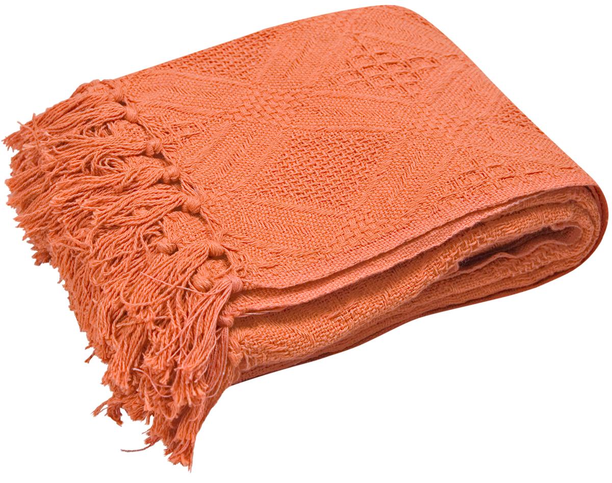 Плед Arloni Кокос, цвет: терракотовый, 130 х 160 см2030.34