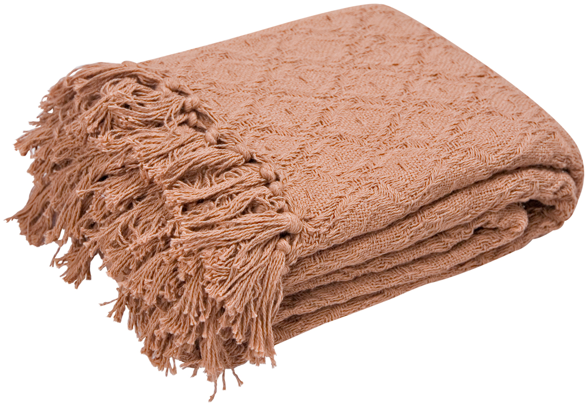 Плед Arloni Лайт, цвет: шоколадный, 140 х 200 см2039.12