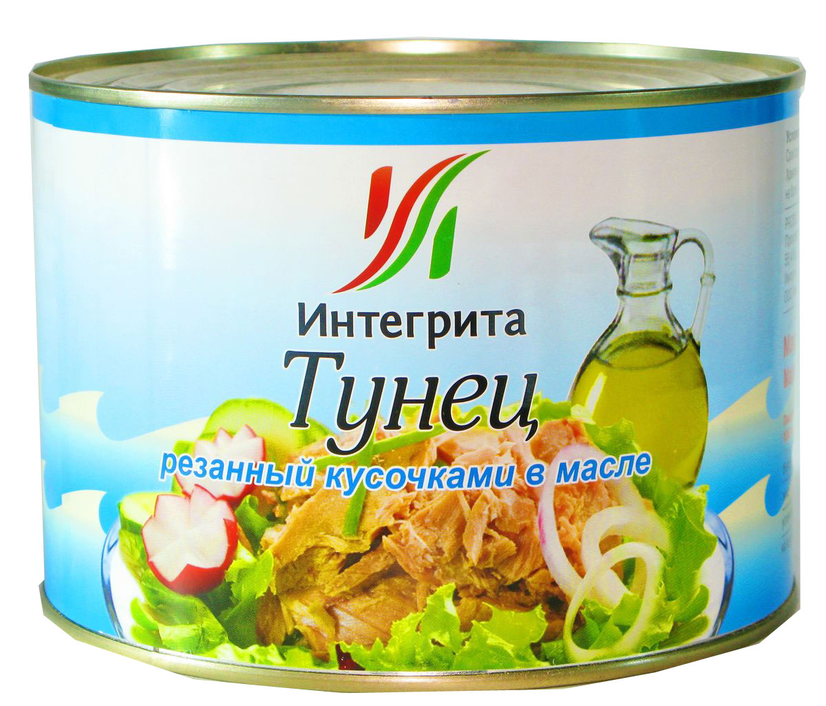 Integrita тунец резаный кусочками в масле, 1,7 кгМС-00001808Приготовлен из мяса молодого тунца. Отличается нежным цветом и приятным вкусом. Идеален для приготовления салатов, закусок, горячих бутербродов и других вкусных блюд.