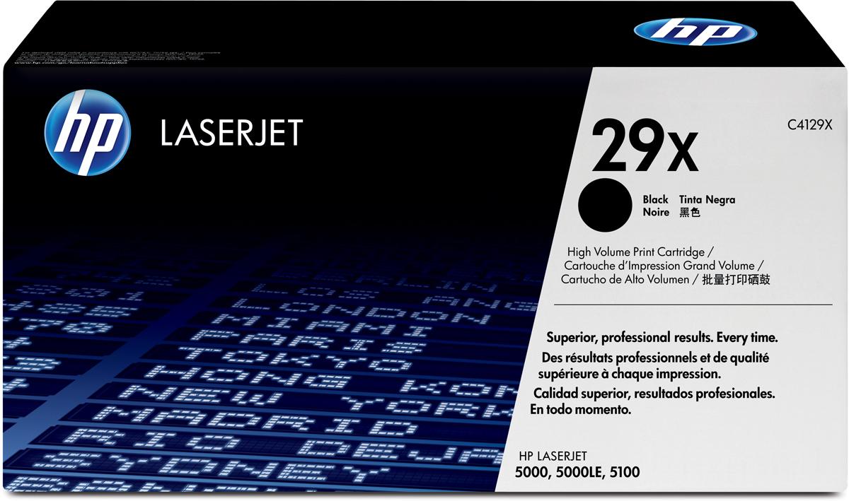HP C4129X, Black тонер-картридж для LaserJet 5000C4129X