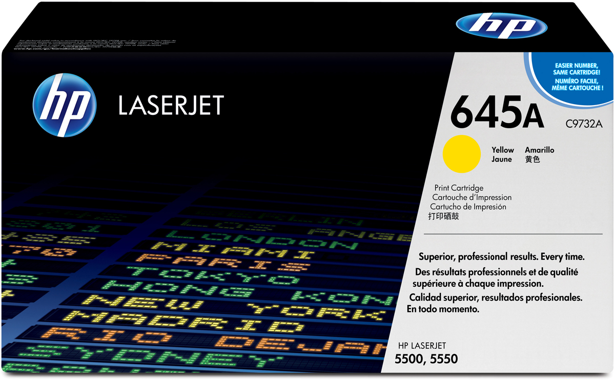 HP C9732A, Yellow тонер-картридж для Color LaserJet5500 тонер картридж hp b6y34a 3 pack yellow