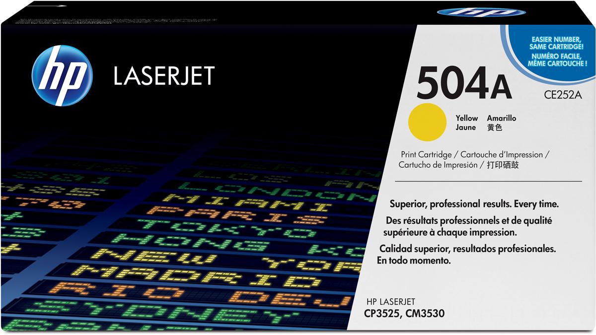 HP CE252A, Yellow тонер-картридж для Color LaserJet CP3525/CM3530CE252A